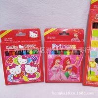 kitty猫迪士尼卡通12色短彩色铅笔 12色盒装绘画铅笔 学生奖品
