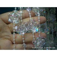批发水晶珠帘 水晶吊坠 水晶灯饰 塑料门帘 亚克力材料珠珠帘装卖