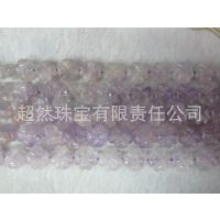 手工DIY配件 天然紫晶12毫米四叶草 珠子散珠 半成品批发