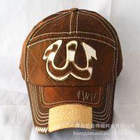 2015韩版春季新款男女式帽子贴布W字母棒球帽水洗做旧潮流网眼帽
