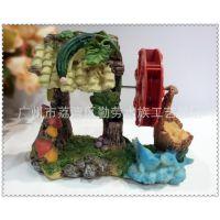 厂家直销水族箱用品鱼缸装饰造景 家居摆设假山配件 丝瓜屋风车