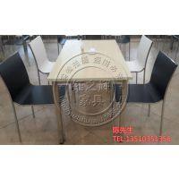 深圳厂家定制公司食堂茶餐厅桌椅  防火板四人餐桌椅组合