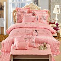 婚庆床上用品四六八十件套 大红纯棉全棉 爱的誓言 免费加盟