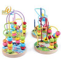 迷你串珠 益智木制玩具智力小绕珠 串串珠积木 儿童益智玩具批发
