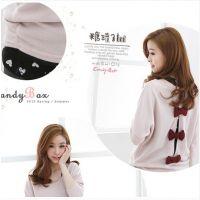 2015 新款韩版超美可爱背后蝴蝶结蝙蝠袖|两件套大码T恤潮