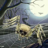 万圣节鬼节用品 骷髅挂饰 八爪骷髅 骨架 模型 蜘蛛型骷髅架