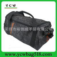 广东手袋厂家 600D旅行袋 印花旅行包 生产行李包 出口行李袋国外