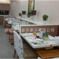【工程花絮二十七】小肥羊火锅餐厅餐桌 实木脚餐桌 大理石桌子