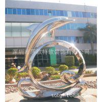 莎欧特厂家生产制作小提琴广场不锈钢镜面雕塑摆件酒店艺术品