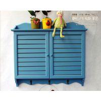 室内地中海风格蓝色百叶窗款客厅电表箱遮挡箱配电箱电表盒装饰箱