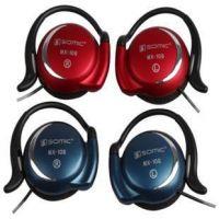 供应Somic/声丽 MX-108耳挂式隐形麦克风运动型耳机挂式耳机耳麦2米