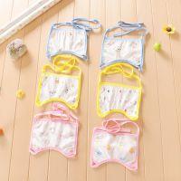 空气棉儿童卡通防水口罩式围嘴婴儿口水巾 宝宝围嘴口水兜巾批发