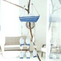 歌赋 地中海海洋风情木质风铃家居装饰品墙面饰品手工工艺品