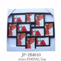 10孔注塑PS相框/特色/照片墙/宝宝成长照片框/复古风格/塑料/批发