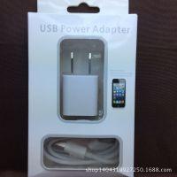 厂家直销一手货源 苹果4数据线 手机充电套装 认证苹果iphone4s/5