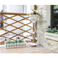 欧式铁艺花架子落地多层室内室外阳台客厅吊兰绿萝花盆架子植物架