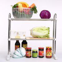 范斯高厨房双层置物架 收纳架子 调味料架 脚架 厨浴用品