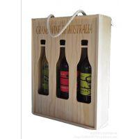 曹县酒盒厂家直销松木单排六支红酒盒 木制红酒礼盒 红酒木盒