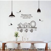 可移除环保墙贴餐厅背景餐具厨房贴橱柜贴时尚DIY创意贴纸JM7192