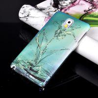 厂家批发 新款三星note3手机壳 N9000 IMD蓝光手机保护套 水花