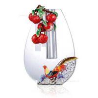 供应水晶花瓶 大吉大利花瓶 同系列烟缸 摆件名片夹笔插(图)