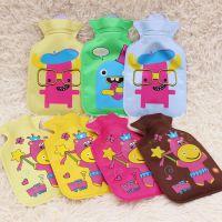 韩版印花卡通小号注水热水袋 PVC充水式暖手宝 长方形加水暖水袋