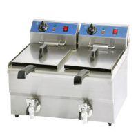西厨设备 台式双缸豪华电炸炉 电炸锅 油炸炉 新款商用炸炉