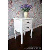 简约韩式现代田园白色两抽床头柜电话桌花架边几