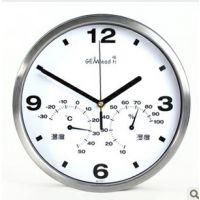 温湿度挂钟 静音挂钟 客厅大时尚 创意石英钟 时钟表A1001