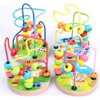 婴儿迷你小绕珠 木制益智玩具 可爱启蒙绕珠 幼儿园学生奖励 奖品