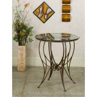 藤铁之乡 铁艺桌子 欧式铁艺家具 创意圆桌 玻璃桌面 可定做