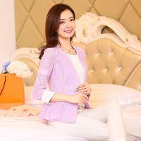秋季2014女装新款小西装 韩版蕾丝气质修身薄款外套女潮A115