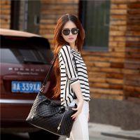 2014春季新款 女包韩版时尚潮流小格纹复古OL单肩女包包代理加盟