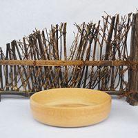 巨匠厂家定制高档西式环保偏平儿童宝宝天然竹碗竹盘竹碟
