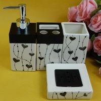 批发供应出口欧美陶瓷卫浴四件套 洗漱套装 家居用品