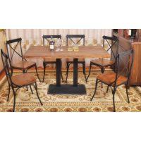 品质精细铁艺餐厅桌椅 实木桌椅 工艺品 办公桌 餐桌专用