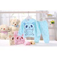 品牌童装韩国版童家居服 可爱卡通纯棉新生婴儿宝宝儿童家居套装
