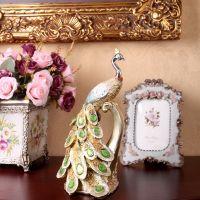 阿里热销 树脂孔雀摆件 家庭装饰 商务礼品 家庭装饰 批发XA488