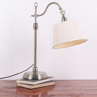 美克美家式布艺复古台灯现代创意卧室床头灯学习工作田园布艺灯具
