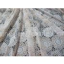 White Cotton Polyester Lace Fabric Thick Geometric Burnout Lace for Dress Decoration(CY-DK0023)
