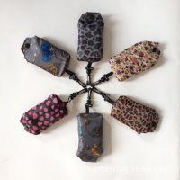 供应涤纶190印花布手机袋批发 环保折叠手机袋 广告促销女士手机袋
