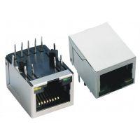 【厂家直销,优质供应】供应RJ45 10P10C插座 脚前3.05插座