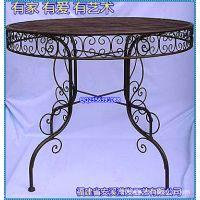 滢发 欧式 铁艺圆桌 创意桌子 时尚 休闲餐桌 批发 可定做x29