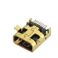 MINI HDMI USB母座/180度直插式/壳镀亮锡
