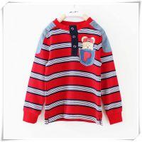 801Q1外贸童装小熊原单秋季新款男童纯棉条纹童针织衫上衣
