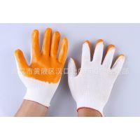 厂家批发单面PVC牛筋手套防割手套劳保手套各类PVC半胶满胶手套