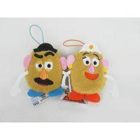 迪士尼玩具总动员土豆先生土豆夫人挂件土豆夫妇零钱包硬币包挂件