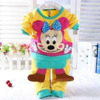 2015春季新款童泽贝酷9665奥戴尔中小童套装 运动卡通宝宝外出服