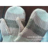 毛线手套 针织手套 加厚手套 毛绒保暖手套 连指手套 手工