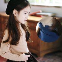 2014秋冬韩版童装 儿童纯色高领打底衫 宝宝木耳边女童T恤